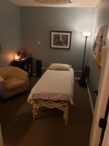 Treatment room 1 at Seasons of Balance Family Acupuncture