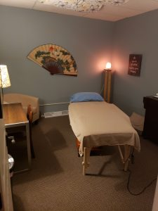 Treatment room 2 at Seasons of Balance Family Acupuncture